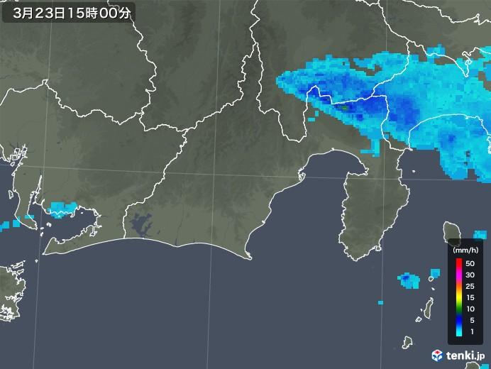 静岡県の雨雲レーダー(2020年03月23日)