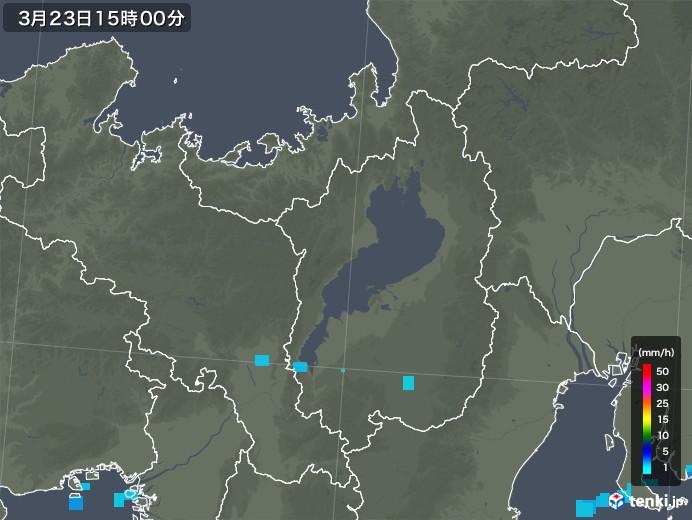 滋賀県の雨雲レーダー(2020年03月23日)