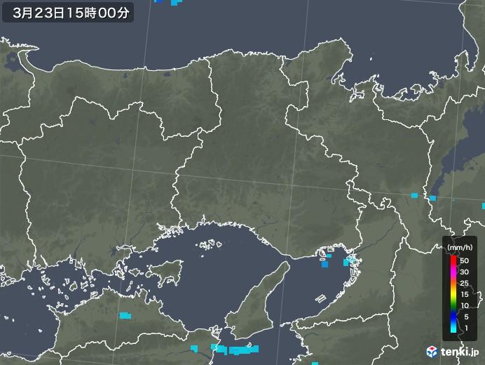 兵庫県の雨雲レーダー(2020年03月23日)