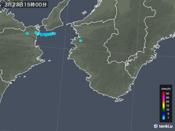 和歌山県の雨雲レーダー(2020年03月23日)