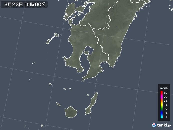 鹿児島県の雨雲レーダー(2020年03月23日)