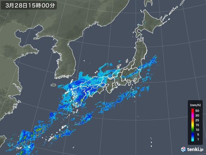 雨雲レーダー(2020年03月28日)