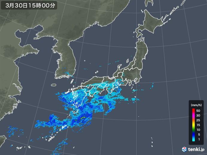 雨雲レーダー(2020年03月30日)