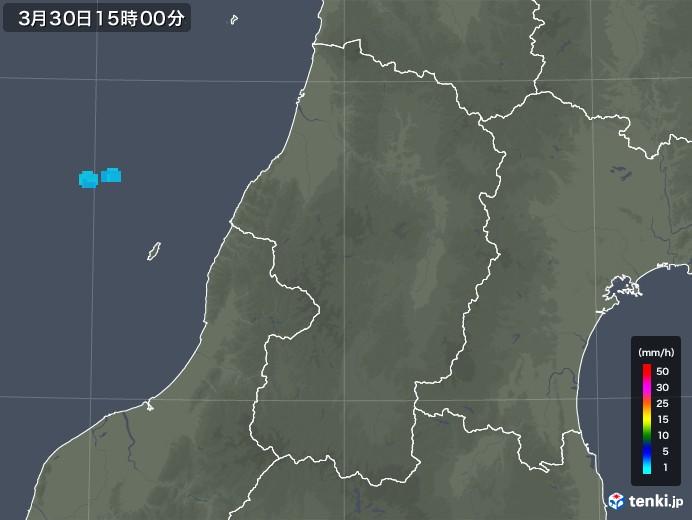 山形県の雨雲レーダー(2020年03月30日)