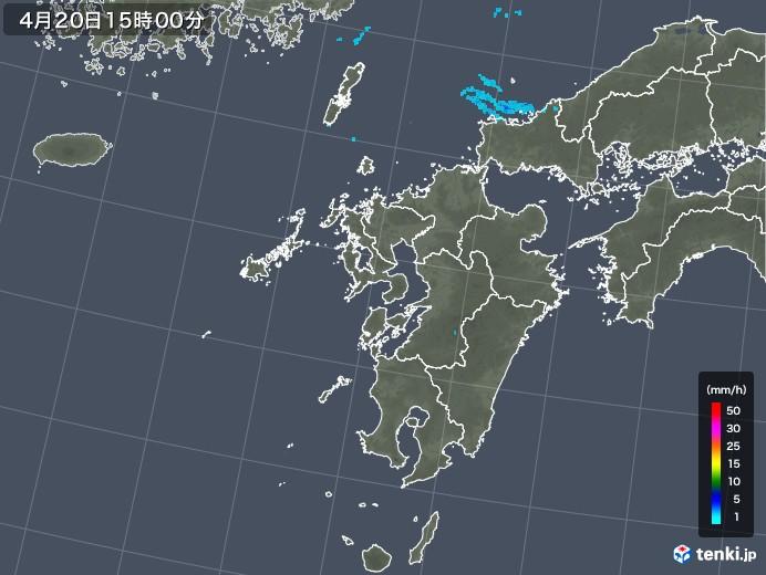 九州地方の雨雲レーダー(2020年04月20日)