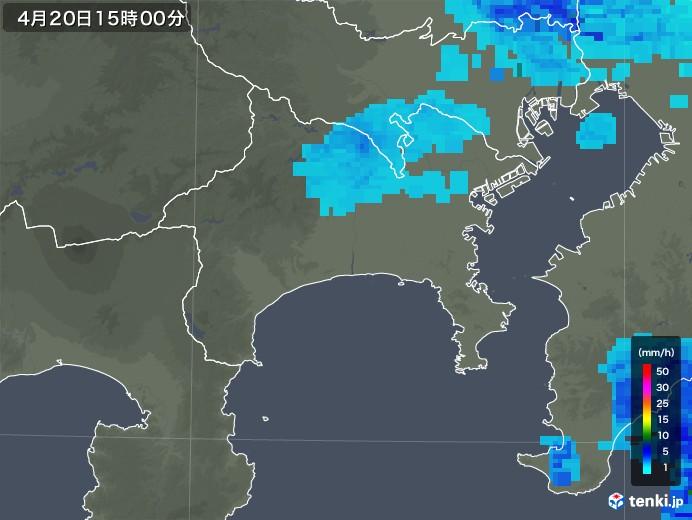 神奈川県の雨雲レーダー(2020年04月20日)
