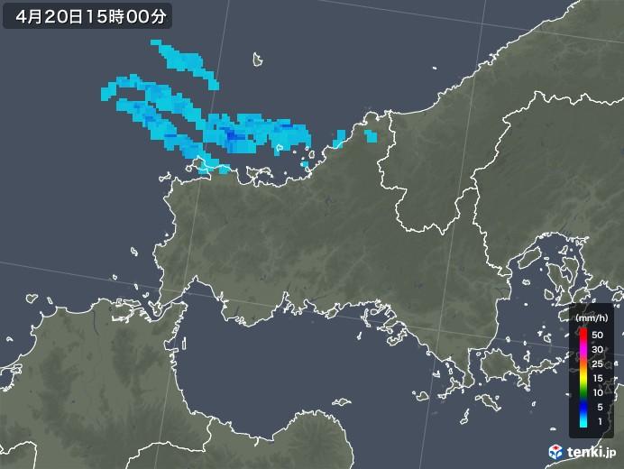 山口県の雨雲レーダー(2020年04月20日)