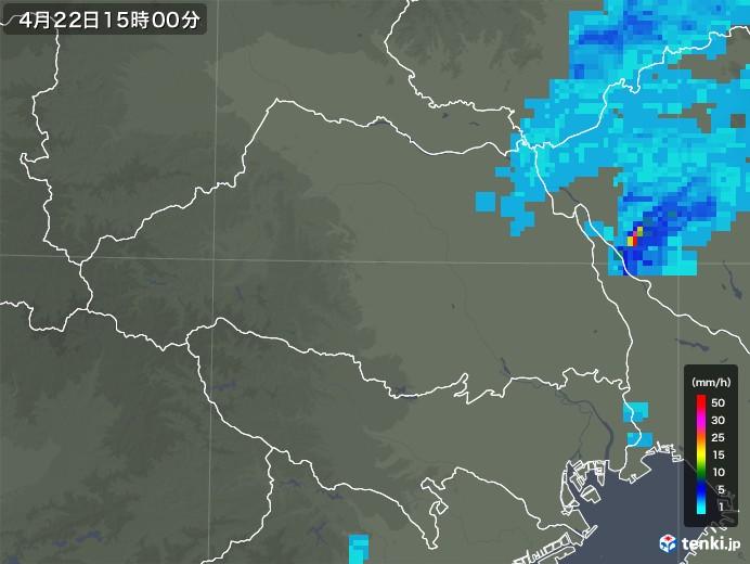 埼玉県の雨雲レーダー(2020年04月22日)