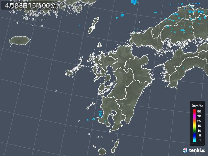 九州地方の雨雲レーダー(2020年04月23日)