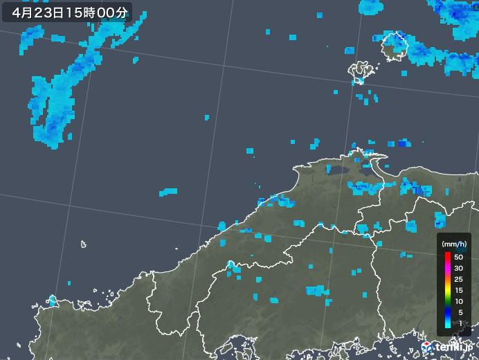 島根県の雨雲レーダー(2020年04月23日)
