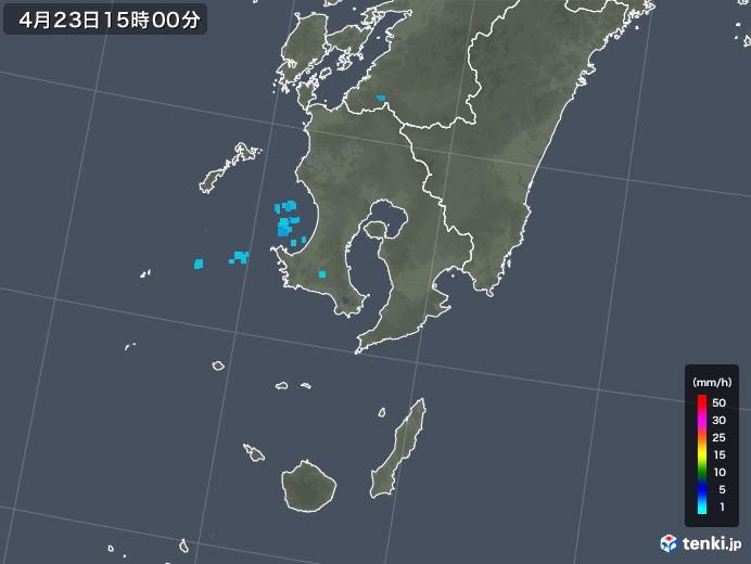 鹿児島県の雨雲レーダー(2020年04月23日)