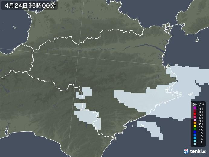 徳島県の雨雲レーダー(2020年04月24日)