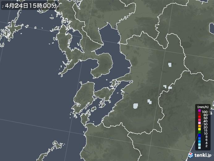熊本県の雨雲レーダー(2020年04月24日)