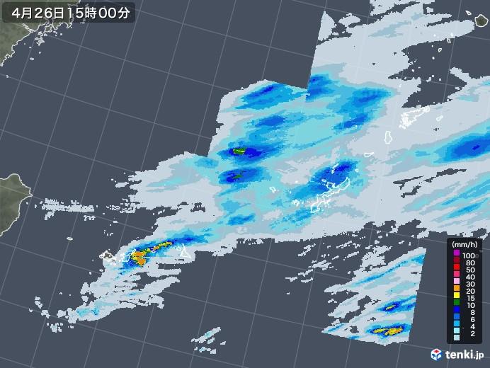 沖縄地方の雨雲レーダー(2020年04月26日)