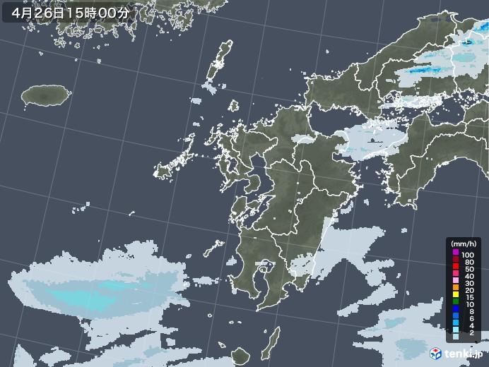 九州地方の雨雲レーダー(2020年04月26日)