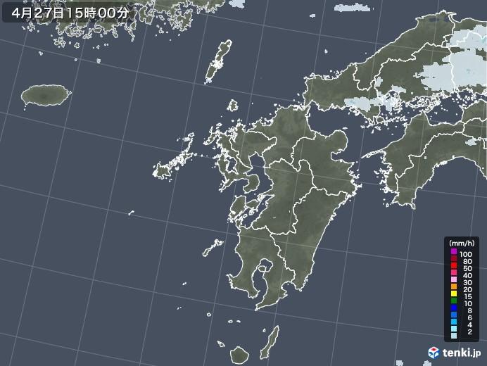 九州地方の雨雲レーダー(2020年04月27日)