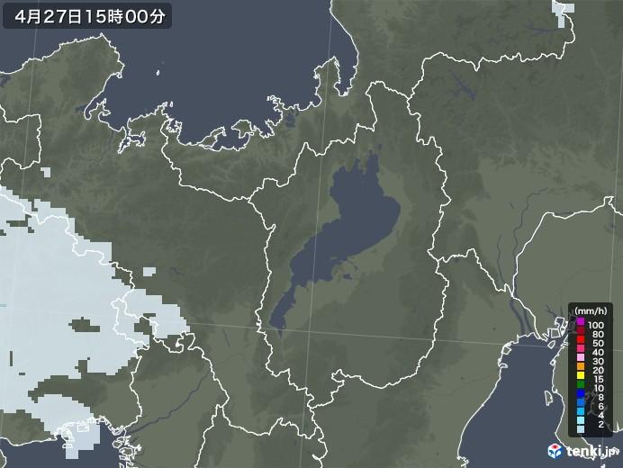 滋賀県の雨雲レーダー(2020年04月27日)