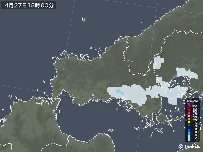 山口県の雨雲レーダー(2020年04月27日)