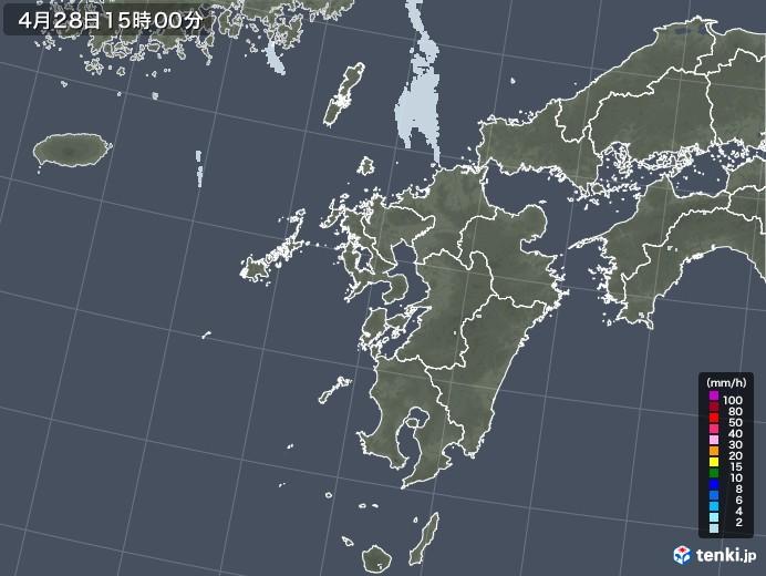 九州地方の雨雲レーダー(2020年04月28日)