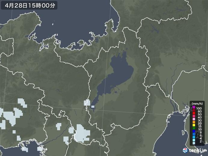 滋賀県の雨雲レーダー(2020年04月28日)