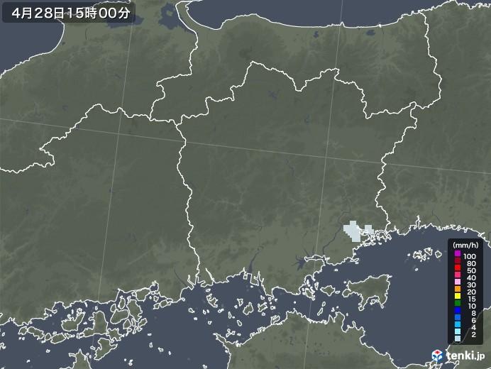岡山県の雨雲レーダー(2020年04月28日)