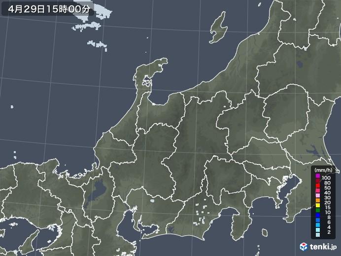 北陸地方の雨雲レーダー(2020年04月29日)
