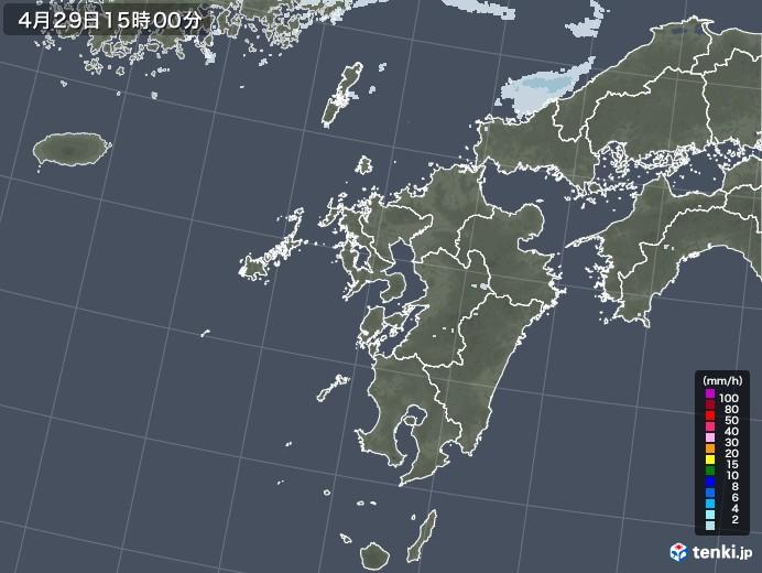 九州地方の雨雲レーダー(2020年04月29日)