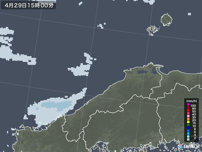 島根県の雨雲レーダー(2020年04月29日)