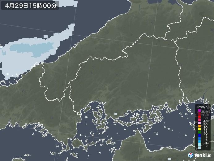 広島県の雨雲レーダー(2020年04月29日)