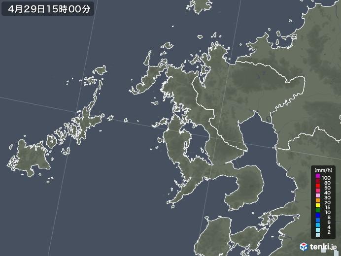 長崎県の雨雲レーダー(2020年04月29日)