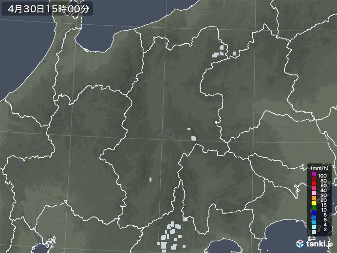 長野県の雨雲レーダー(2020年04月30日)
