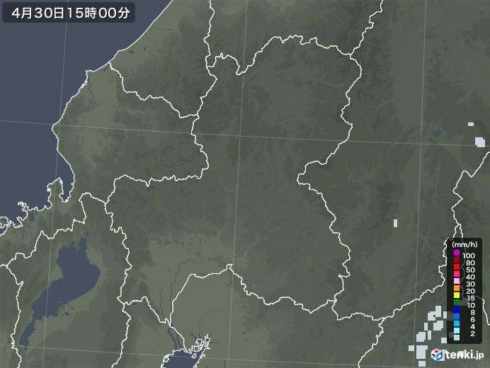 岐阜県の雨雲レーダー(2020年04月30日)