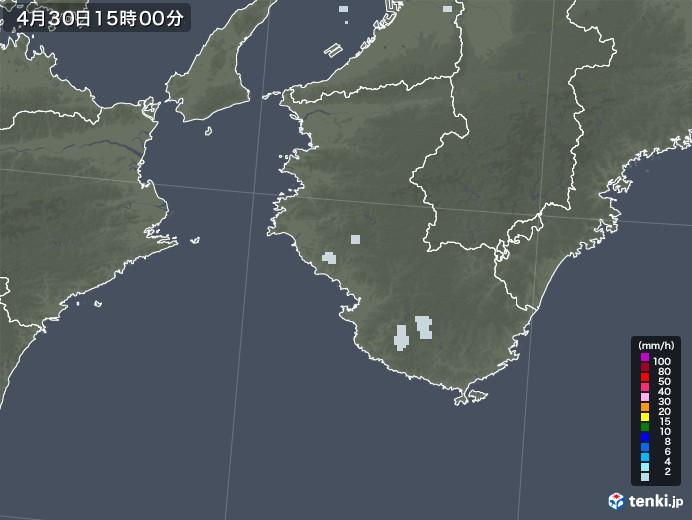 和歌山県の雨雲レーダー(2020年04月30日)
