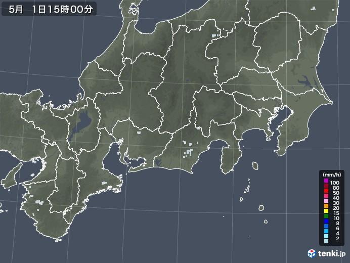 東海地方の雨雲レーダー(2020年05月01日)