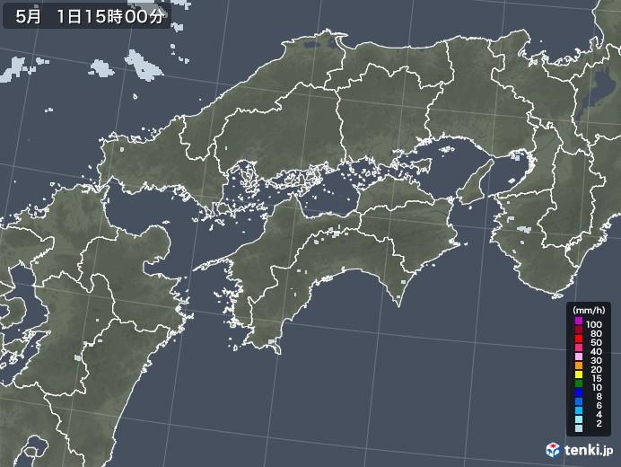 四国地方の雨雲レーダー(2020年05月01日)
