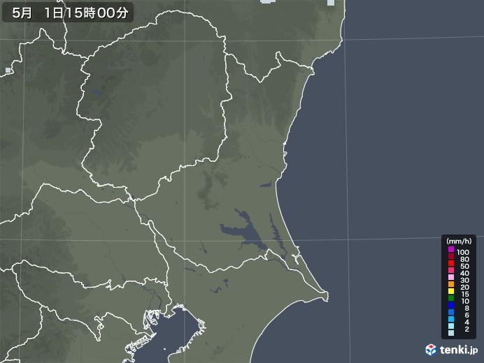 茨城県の雨雲レーダー(2020年05月01日)