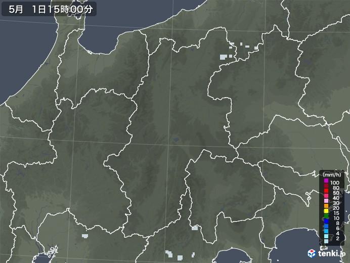 長野県の雨雲レーダー(2020年05月01日)