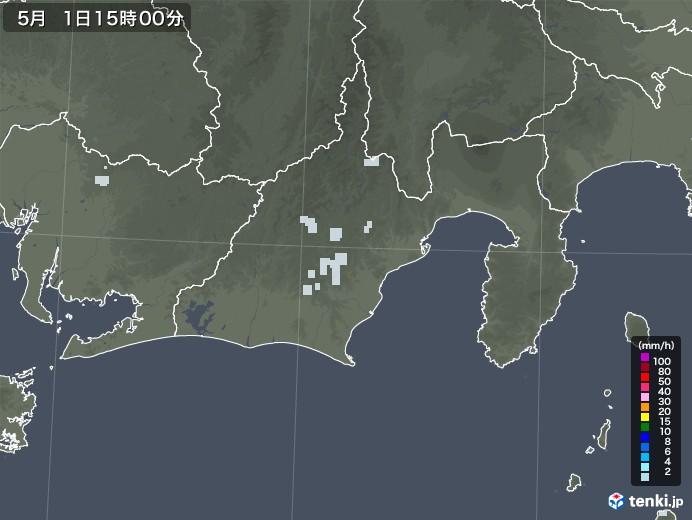 静岡県の雨雲レーダー(2020年05月01日)