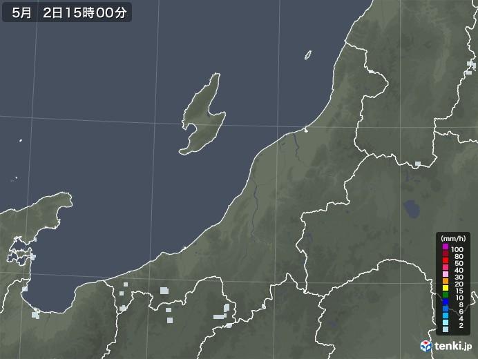 新潟県の雨雲レーダー(2020年05月02日)