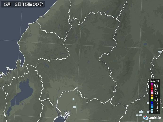 岐阜県の雨雲レーダー(2020年05月02日)