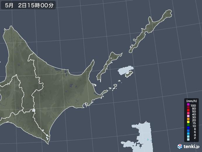 道東の雨雲レーダー(2020年05月02日)