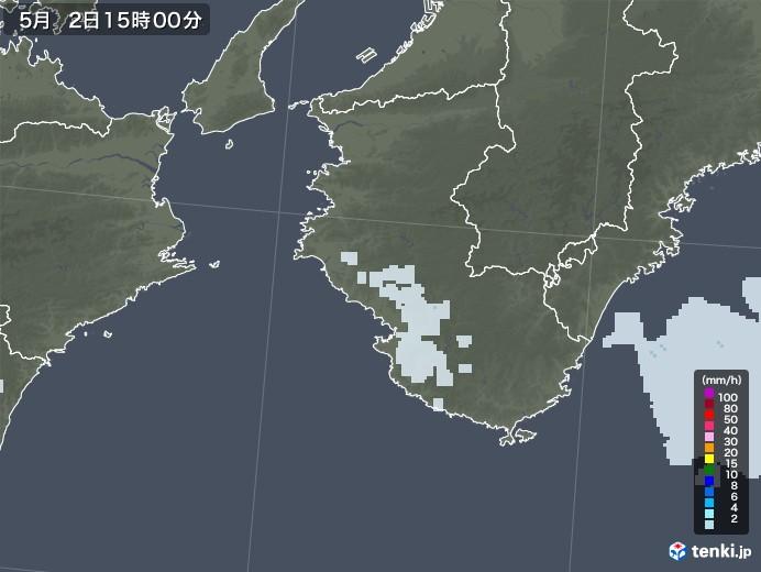 和歌山県の雨雲レーダー(2020年05月02日)