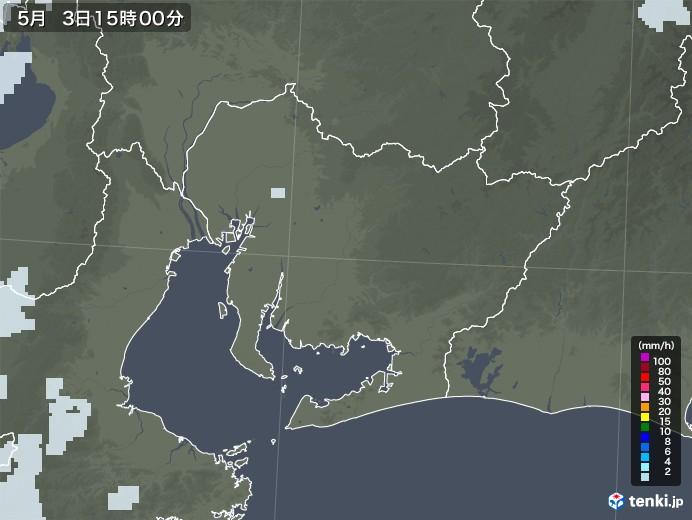 愛知県の雨雲レーダー(2020年05月03日)