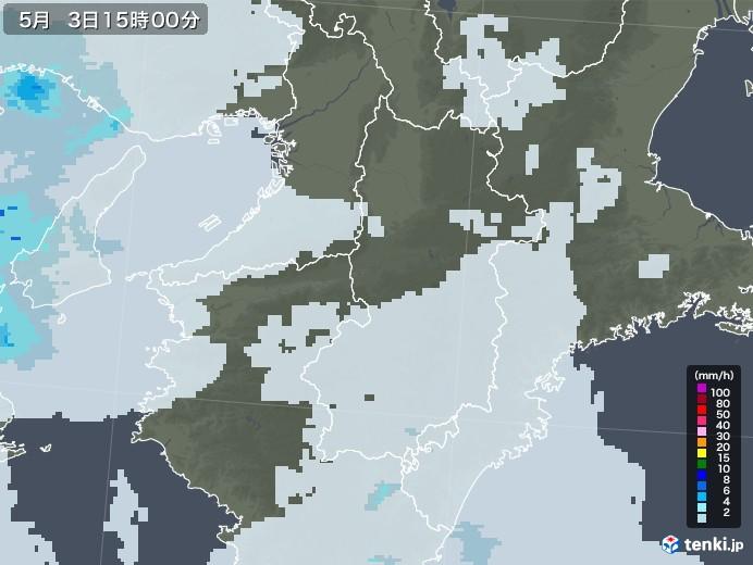 奈良県の雨雲レーダー(2020年05月03日)