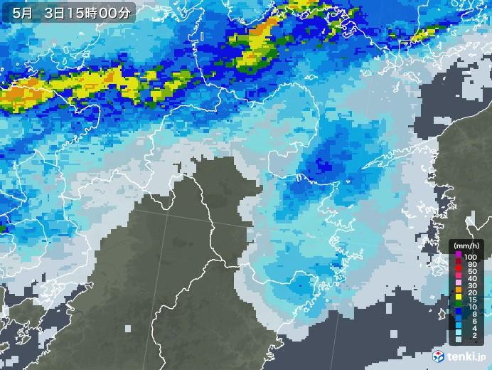 大分県の雨雲レーダー(2020年05月03日)