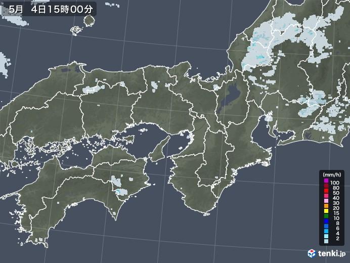 近畿地方の雨雲レーダー(2020年05月04日)
