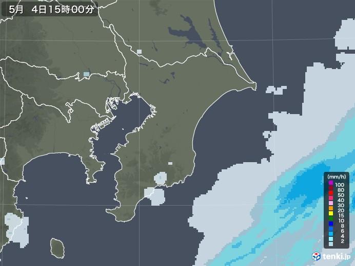 千葉県の雨雲レーダー(2020年05月04日)