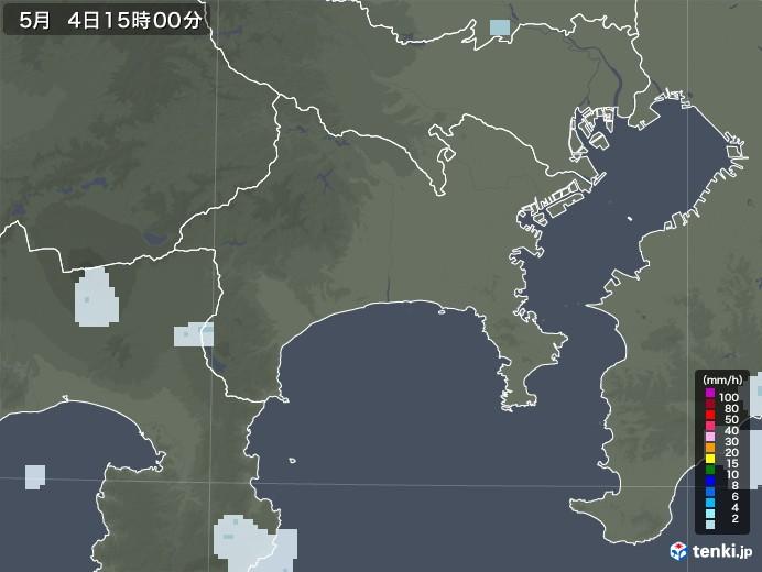 神奈川県の雨雲レーダー(2020年05月04日)