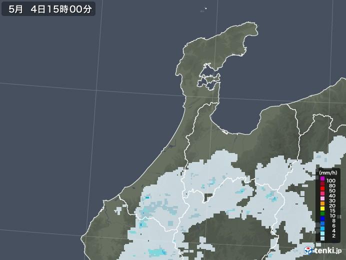 石川県の雨雲レーダー(2020年05月04日)