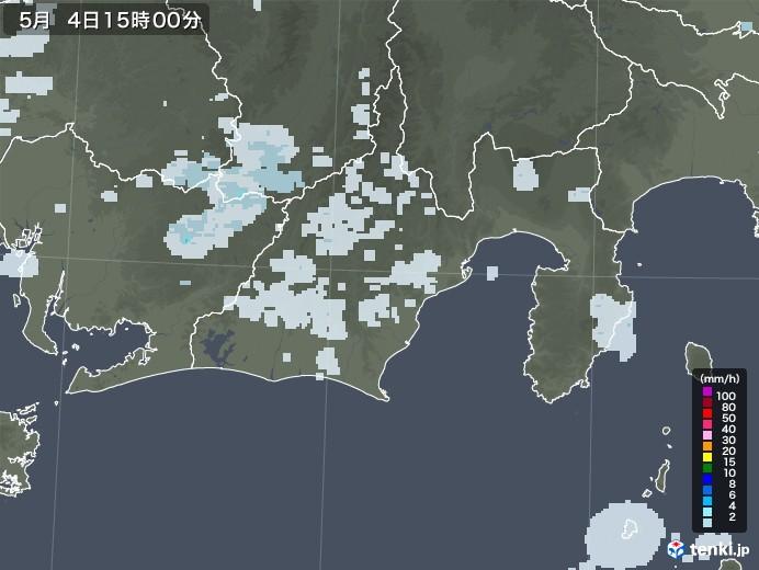 静岡県の雨雲レーダー(2020年05月04日)